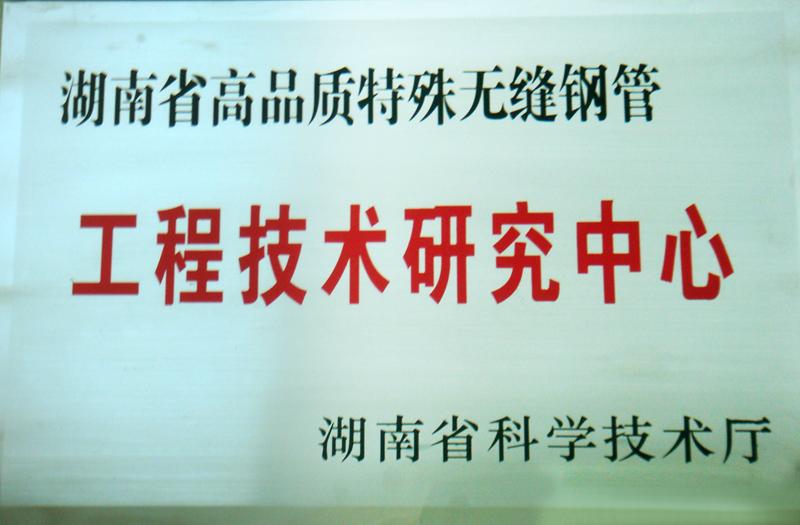 湖南省高品质特殊无缝钢管工程技术研究中心