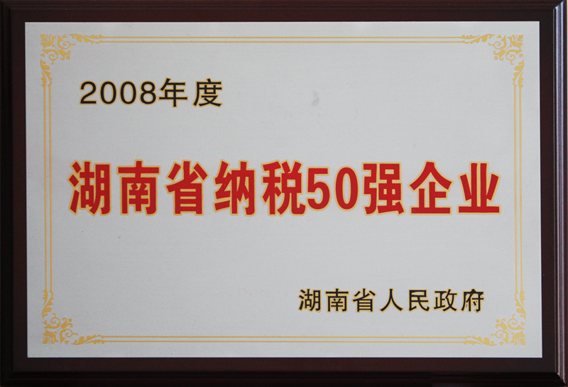湖南省纳税50强企业