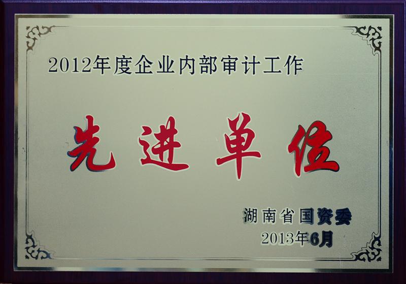 湖南省企业内部审计工作先进单位