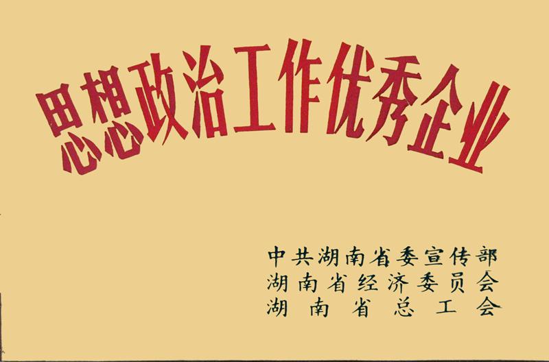 湖南省思想整治工作优秀企业